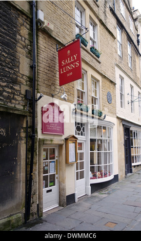 Sally Lunns tearooms, Bath, England - Stock Photo