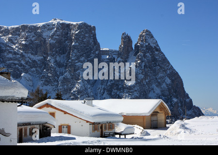 Seiser Alm / Alpe di Siusi, South Tyrol / Alto Adige, Italy - Stock Photo