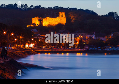 Oystermouth Castle, Mumbles, Swansea Wales, United Kingdom, Europe - Stock Photo