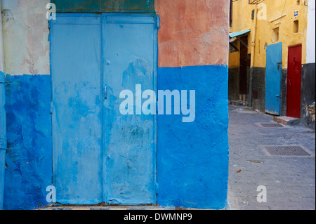 Narrow street in the Medina (Old City), Tangier (Tanger), Morocco, North Africa, Africa - Stock Photo