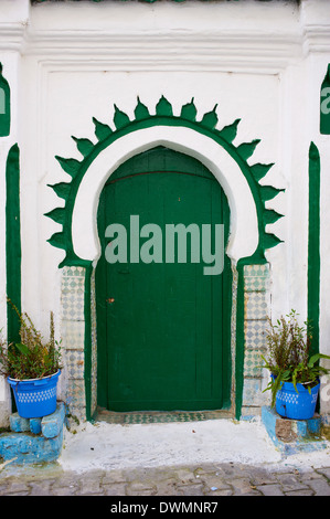 Door in the Medina (Old City), Tangier (Tanger), Morocco, North Africa, Africa - Stock Photo