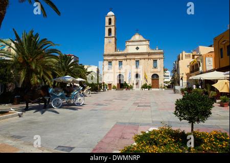 Orthodox Cathedral, Chania, Crete, Greek Islands, Greece, Europe - Stock Photo