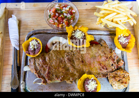prepared beef steak - Stock Photo