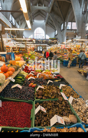 Hala Targowa market hall, Wroclaw, Silesia, Poland, Europe - Stock Photo