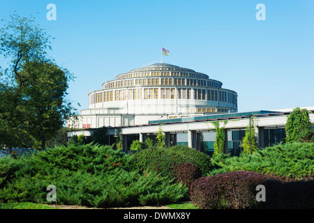 Centennial Hall, UNESCO World Heritage Site, Wroclaw, Silesia, Poland, Europe - Stock Photo