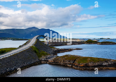 Attraction of middle Norway - Atlantic Road - Stock Photo