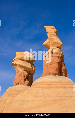 Hoodoos, Devils Garden, Grand Staircase Escalante National Monument, Utah, United States of America, North America - Stock Photo