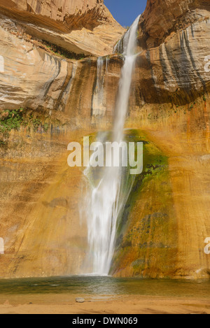 Lower Calf Creek Falls, Grand Staircase Escalante National Monument, Utah, United States of America, North America - Stock Photo