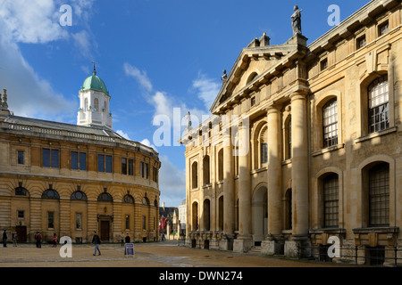The Clarendon Building and Sheldonian Theatre, Oxford, Oxfordshire, England, United Kingdom, Europe - Stock Photo