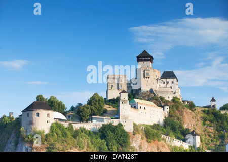 Trencin Castle, Trencin, Trencin Region, Slovakia, Europe - Stock Photo