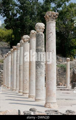 Roman-Byzantine city of Scythopolis in Beth Shean National Park, Israel, Middle East - Stock Photo
