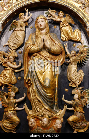 Ascension of the Virgin Mary statue in the Mosque (Mezquita) and Cathedral of Cordoba, UNESCO Site, Cordoba, Andalucia, - Stock Photo