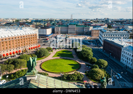 View from St. Isaac's Cathedral, St. Petersburg, Russia, Europe - Stock Photo