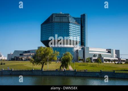 National Library of Belarus in Minsk, Belarus, Europe - Stock Photo