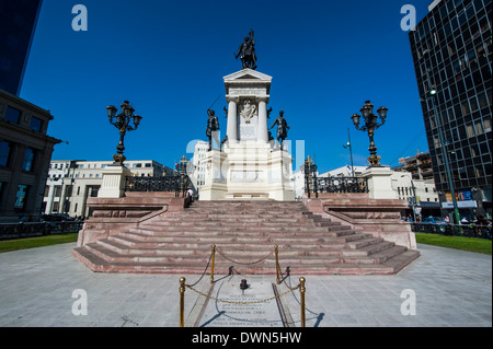 Monument to the Heroes of Iquique, Valparaiso, Chile, South America - Stock Photo