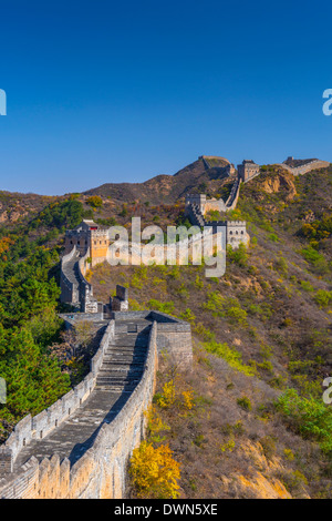 Great Wall of China, UNESCO Site, dating from the Ming Dynasty, Jinshanling, Luanping County, Hebei Province, China - Stock Photo