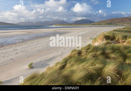 A view of Seilebost beach, Isle of Harris, Outer Hebrides, Scotland, United Kingdom, Europe - Stock Photo
