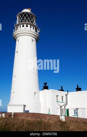 Flamborough Head Lighthouse, East Riding of Yorkshire, England, United Kingdom, Europe - Stock Photo