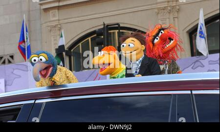 Los Angeles, California, USA. 11th Mar, 2014. Muppets at arrivals for MUPPETS MOST WANTED Premiere, El Capitan Theatre, - Stock Photo