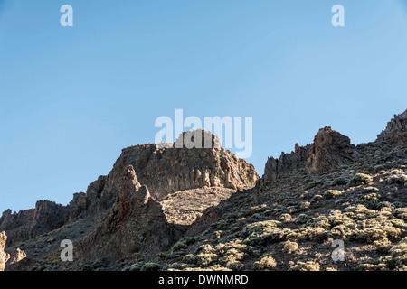 Rock formations, Llano de Uruanca plateau, Parque Nacional de las Cañadas del Teide, Teide National Park - Stock Photo