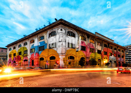 Street art by renowned artist Blu in Via del Porto Fluviale, Rome Italy - Stock Photo
