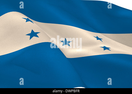 Honduran flag - Stock Photo