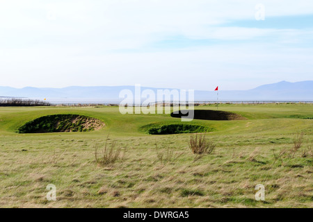 Royal Troon links golf course, Scotland, in Spring - Stock Photo