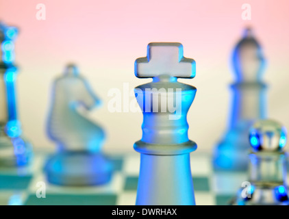 Chess - a board game of strategic skill for two players - Stock Photo