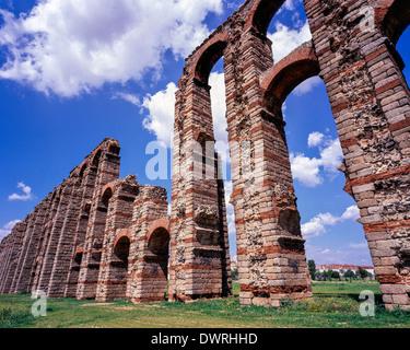 Merida Acueducto de los Milagros Extremadura Spain - Stock Photo