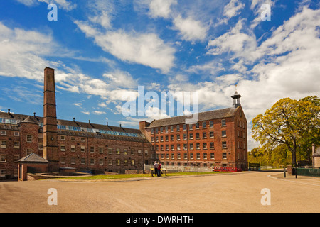 Mid Mill and Bell Mill, Stanley Mills, near Perth - Stock Photo