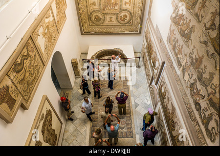 North Africa, Tunisia, Tunis. The Bardo Museum. Group of tourists. - Stock Photo