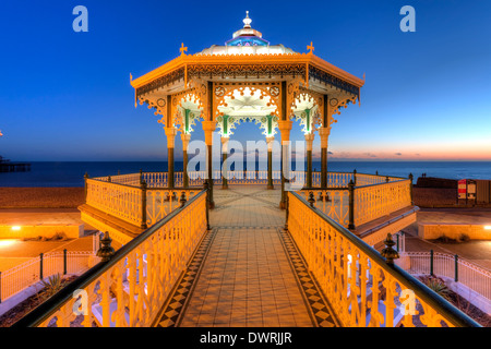 The Victorian Bandstand, Brighton, England - Stock Photo
