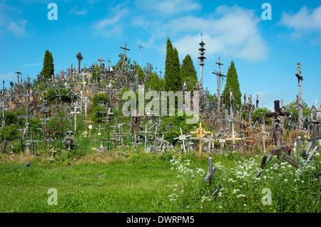 Hill of crosses, Siauliai - Stock Photo