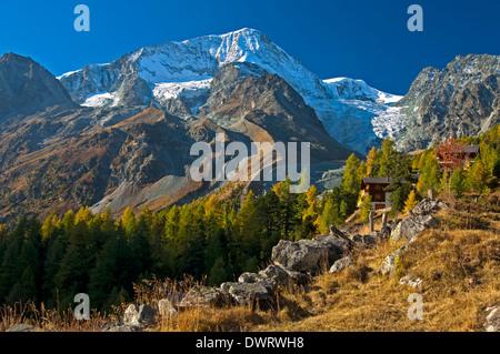 Peak Pigne d'Arolla, Arolla, Valais, Switzerland - Stock Photo
