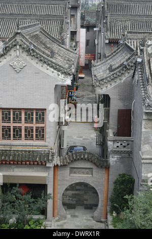downtown of Xian, Door in Old Town - Stock Photo