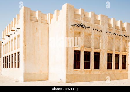 Mud-brick buildings, Doha - Stock Photo