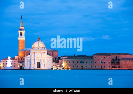 Chiesa di San Giorgio Maggiore basilica on the other side of the island in the evening - Stock Photo