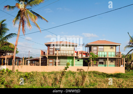 hotel guest house North End Big Corn Island Nicaragua Central America - Stock Photo