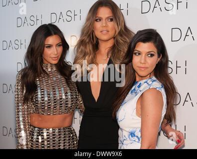 Miami Beach, Florida, US 12th March, 2014. The Kardashian Family Celebrates the Grand Opening of DASH Miami Beach. - Stock Photo