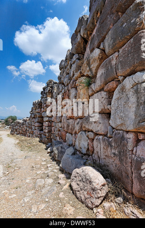 The Cyclopean Walls in Tiryns (1.400 - 1.200 B.C.), Greece - Stock Photo