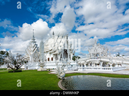 Wat Rong Khun (White Temple), Chiang Rai, Thailand - Stock Photo