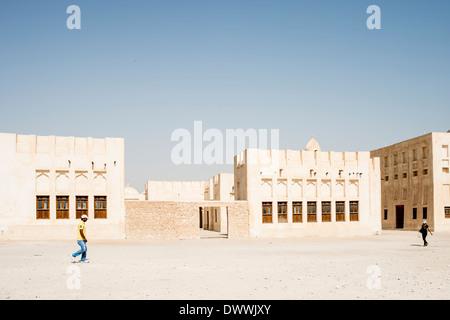 Mudbrick buildings, Doha - Stock Photo