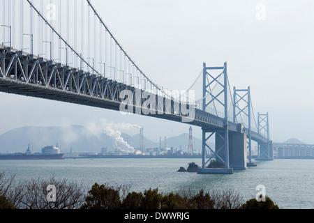 Seto Ohashi Bridge, Japan - Stock Photo