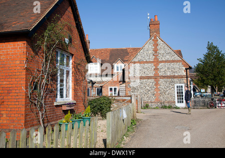 Hambleden Village in Buckinghamshire in UK - Stock Photo
