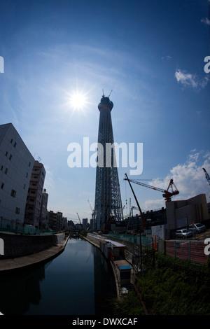Tokyo Sky Tree under construction, Tokyo, Japan - Stock Photo