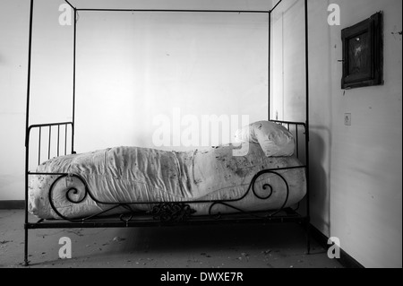 Abandoned  Monastery. Cell of a Secluded nun - Stock Photo