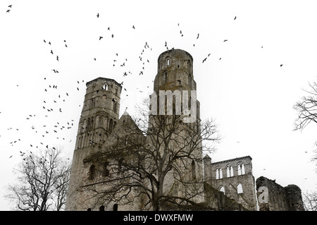 Jumieges abbey ruins, Seine Maritime, France - Stock Photo