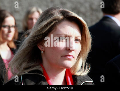 Berlin, Germany. 14th Mar, 2014. Wife of Czech Republic's Prime Minister Bohuslav Sobotka Olga Sobotkova visits - Stock Photo