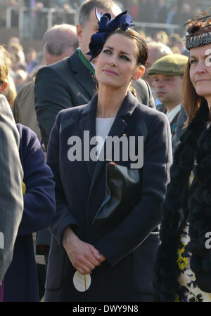 Cheltenham, Gloucestershire, UK . 14th Mar, 2014. Kirsty Gallacher at Cheltenham Gold Cup Festival 2014, day 4, The Cheltenham Gold Cup. Credit:  jules annan/Alamy Live News