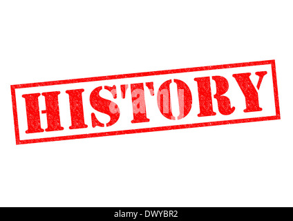 HISTORY red Rubber Stamp over a white background. - Stock Photo